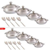 Buy Jensons Stainless Steel Serving Set – Buy 8 Pc & Get 8 Pc at Online Lowest Best Price Offer Rs. 999 : BuyToEarn