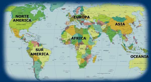MUNDO DEPORTIVO: Mapa Practica de Deportes por Continentes