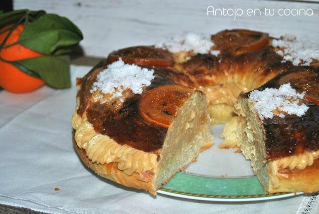 Roscón De Reyes Fácil Con Crema De Turrón De Jijona