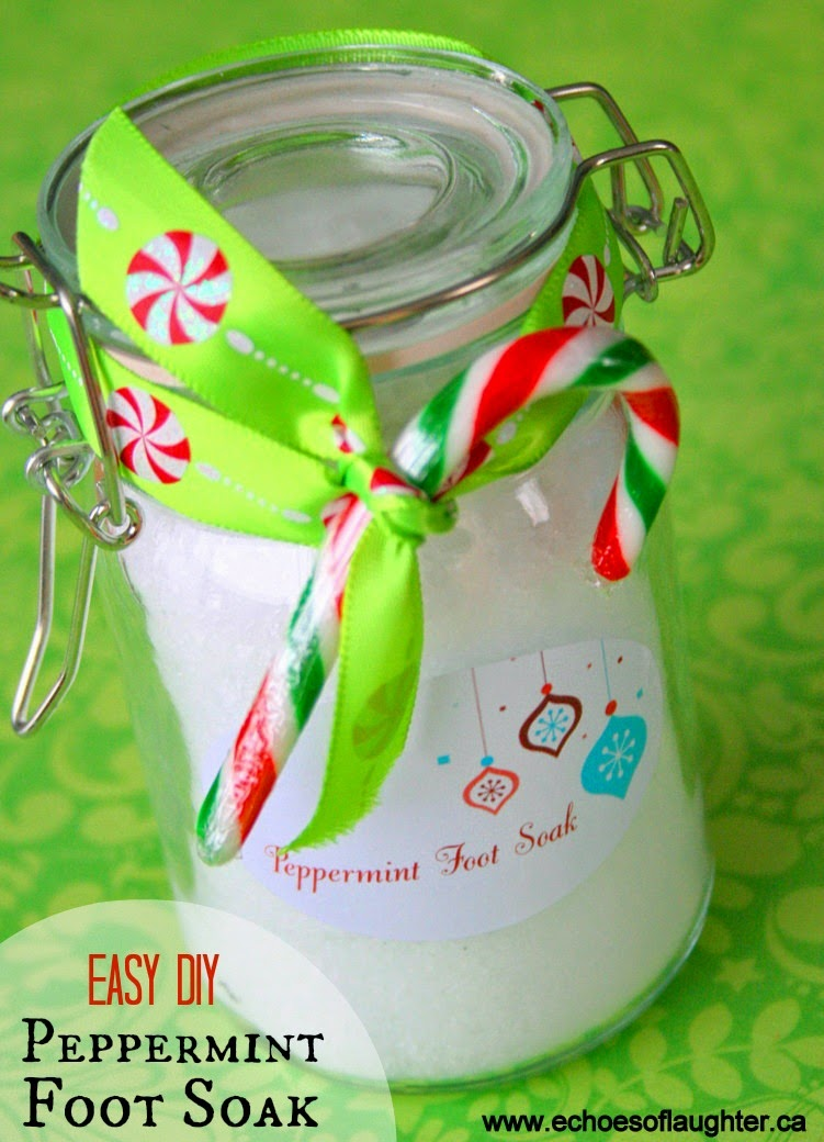 Easy Peppermint Foot Soak Gift Idea