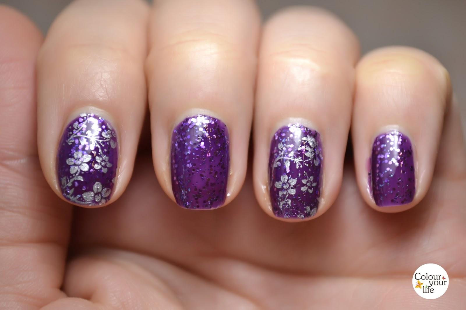 Glitter Polish on my Nails