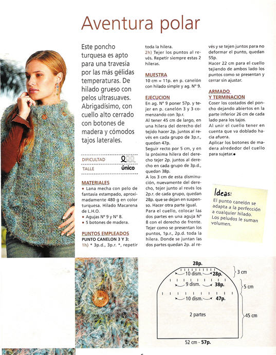 Ponchos tejidos (parte1) | Manos de Tete