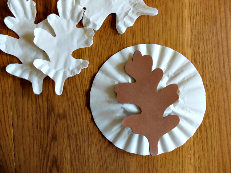 Water Color Coffee Filter Leaves