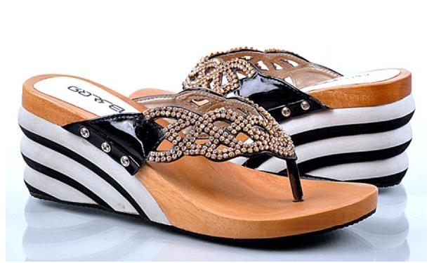 Sepatu: Sendal Wedges Garsel Shoes (SDG-475)
