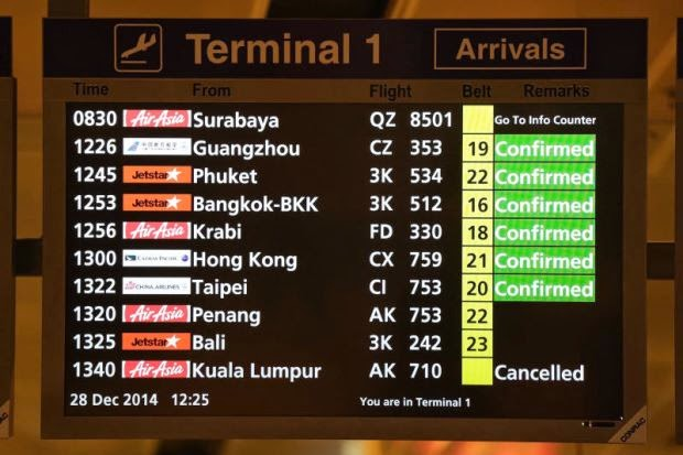 Pesawat AirAsia QZ8501 Yang Hilang