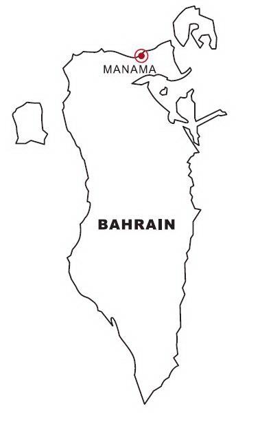 Colorea Tus Dibujos Mapa De Bahrein Para Colorear