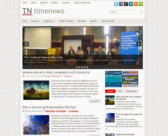 TimeNews Blogger Template