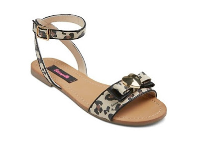 betseyville by betsey johnson flat sandals with animal prints