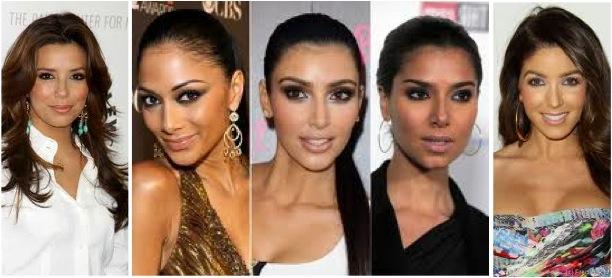 Celebrity brunettes who look alike