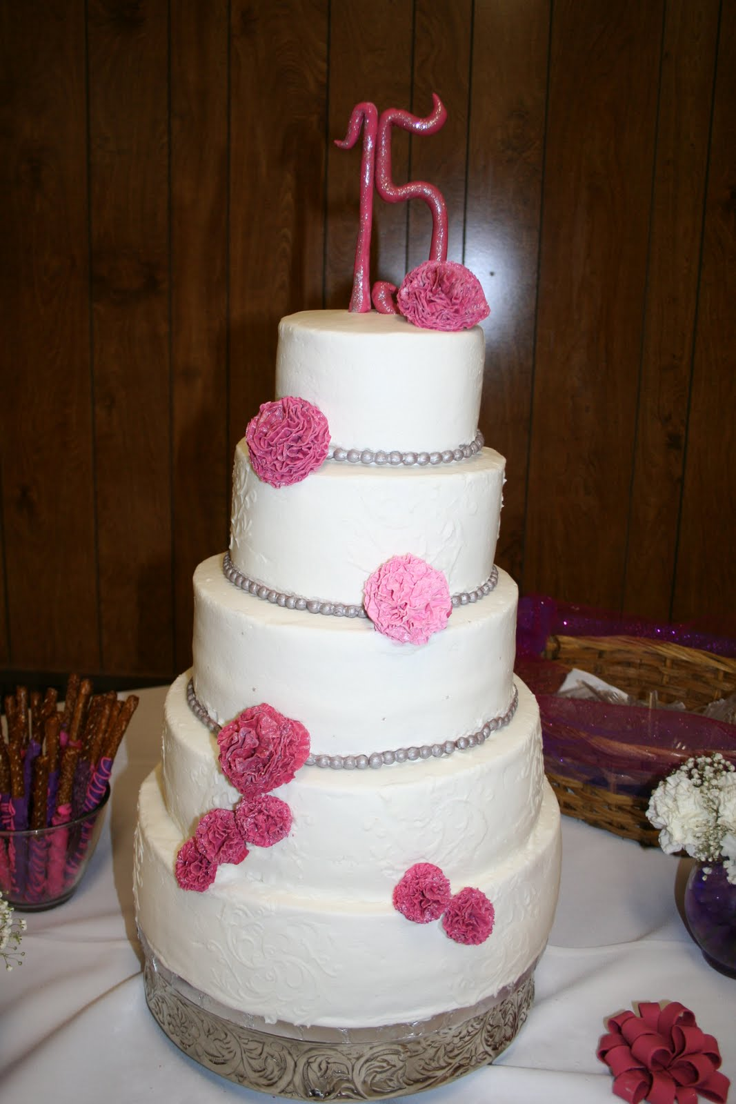 CAKES AND MORE: Quinceanera cake, Tinkerbell cake and ...
