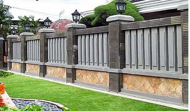 Contoh Pagar Tembok Batu Alam Minimalis Design Rumah Terkini