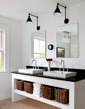 D co black white n 2 la salle de bains - Pinterest deco salle de bain ...