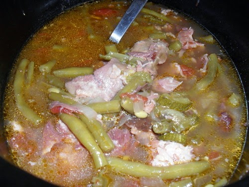 Low-Carb Ham and Green Bean Stew