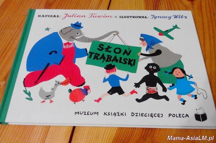 słoń trąbalski muzeum ksiązki dziecięcej poleca okładka
