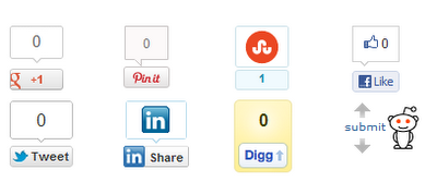 Top Social Media Icons Top 4 Social Media Buttons