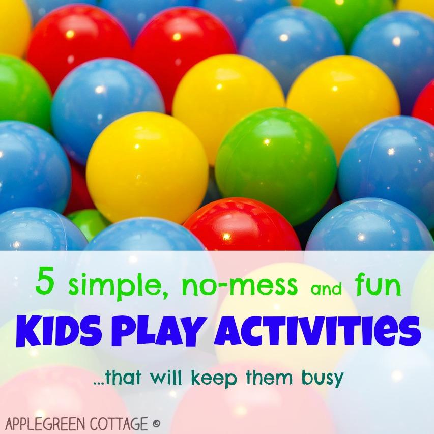 5 simple kids activities