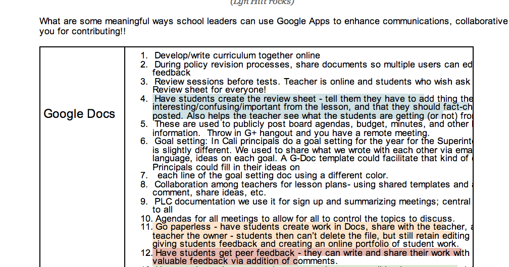 Tons of Ideas on How to Use Google Apps in your Classroom