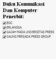 Buku Komunikasi dan Komputer Penerbit EGC, Erlangga, UGM, Gaung Persada Online Murah