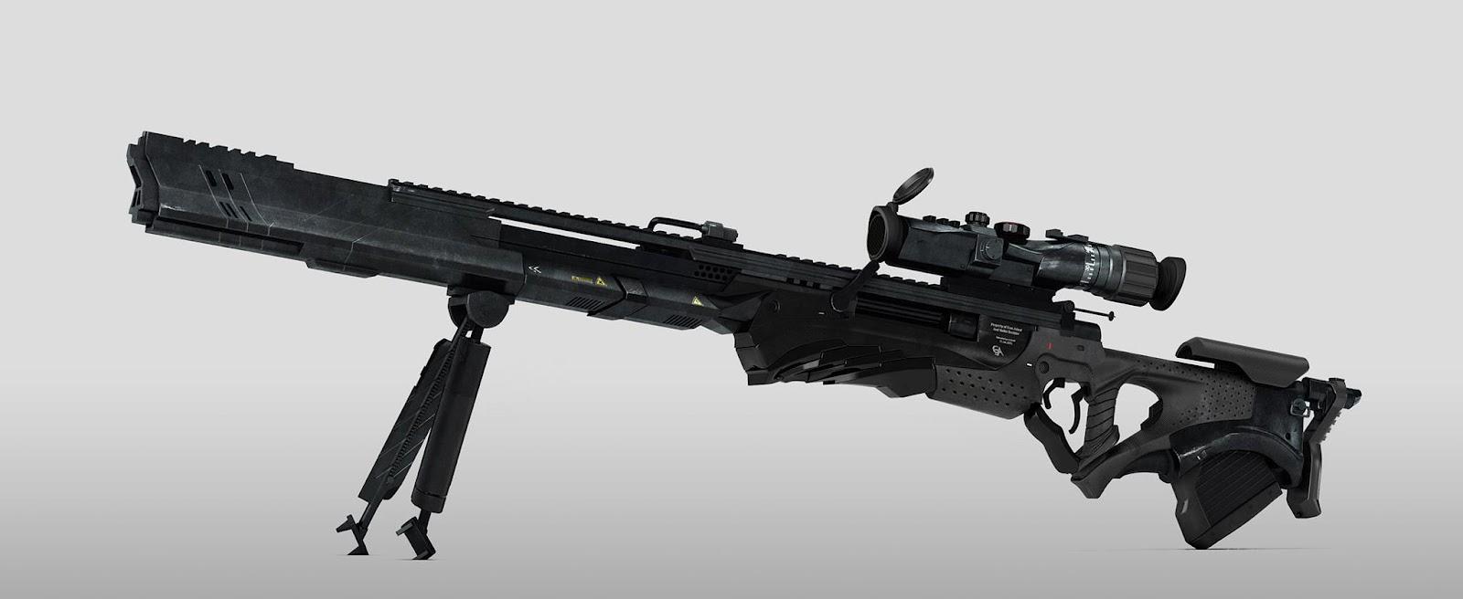 Barret Pawā y Bala especial [Creación de Objeto] 3d+sniper+rifle