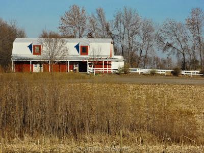 Red and white barn, Minnesota, USA