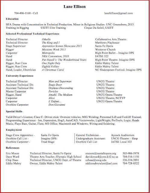 Resume theatre