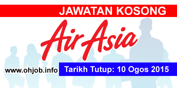 Jawatan Kerja Kosong AirAsia Berhad logo www.ohjob.info ogos 2015