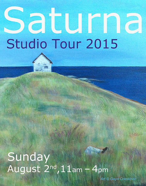 Poster for Saturna Studio Tour 2015. Art  © Gaye Oreskovic
