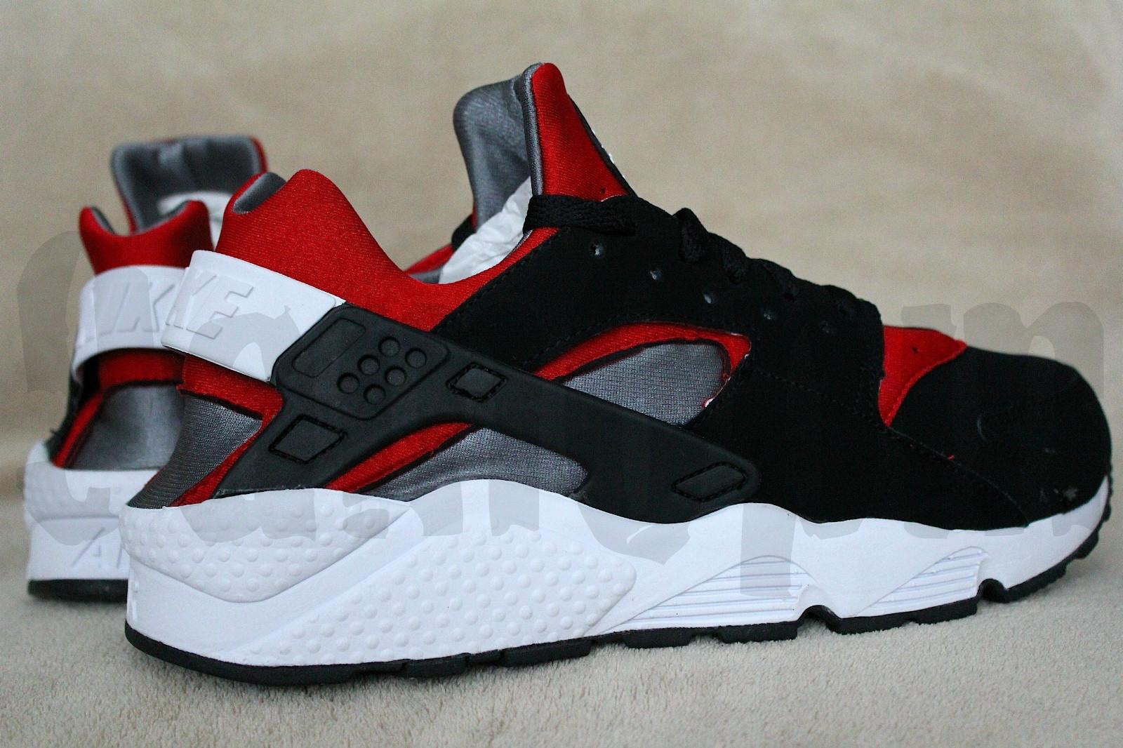 Nike Huarache De Aire Deportivo Negro Rojo nueva línea c6wk0