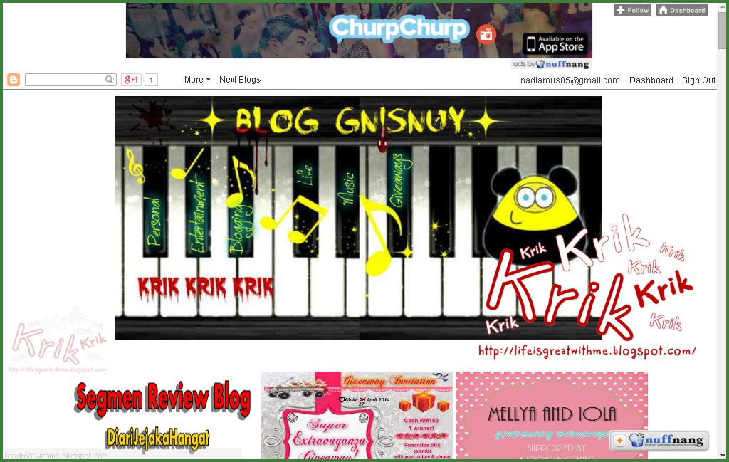 Lucky blogger no 13 - Segmen: Saya nak watermark by kapas-putih.blogspot.com