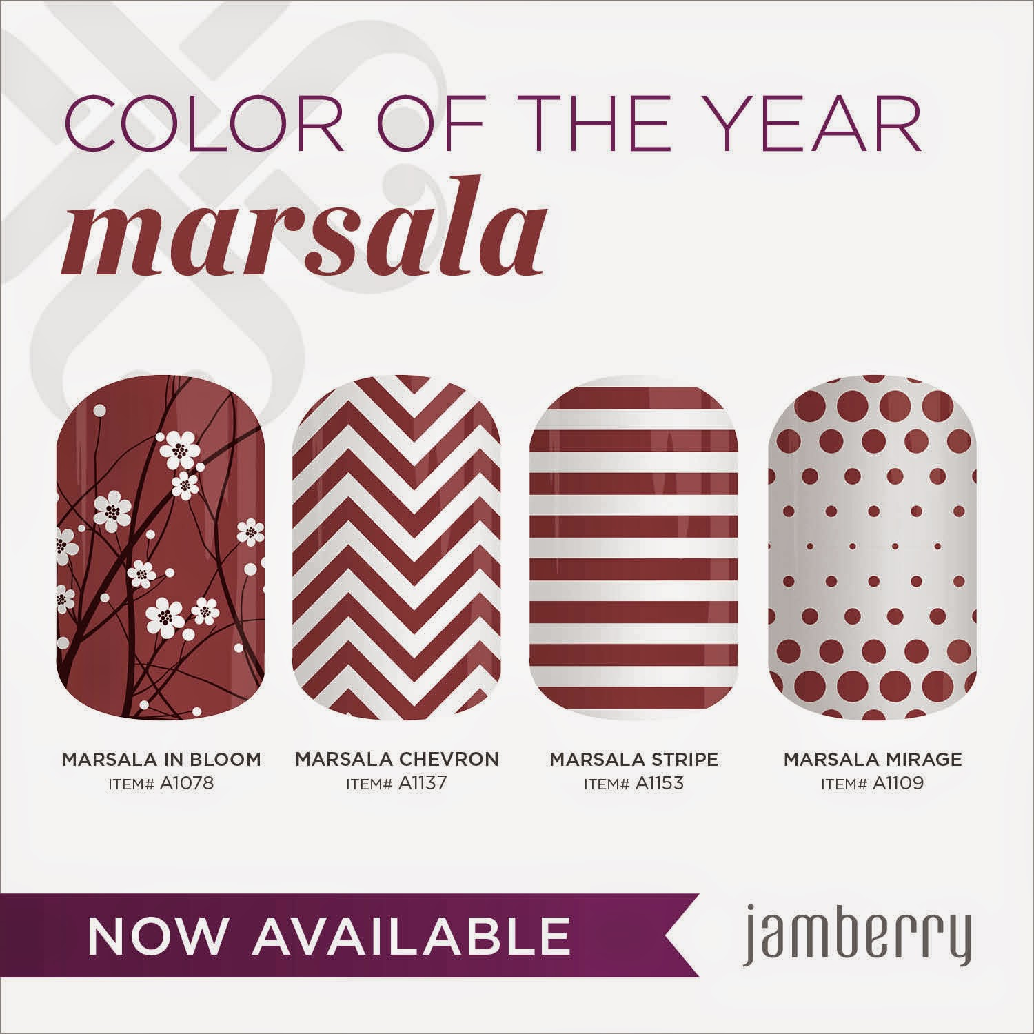 Happy new year what 39 s new in 2015 the jams goddess - Pantone 2015 marsala ...