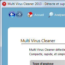 capture d'écran de Multi Virus Cleaner