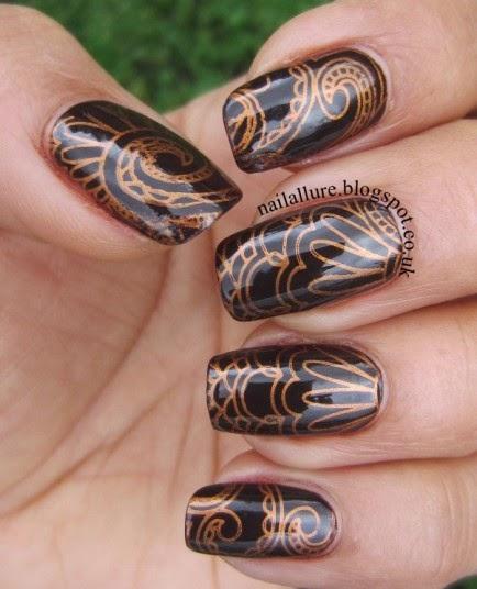 Chocolate Orange Nails