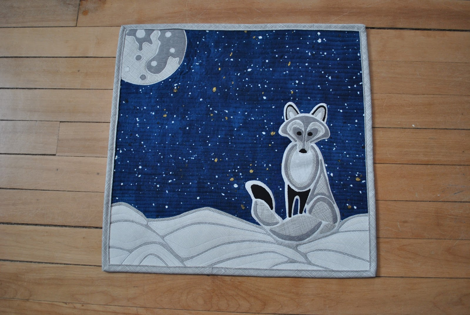 The Iron Amp Needle Arctic Fox Mini Quilt