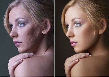 kobieta makijaż zmiana