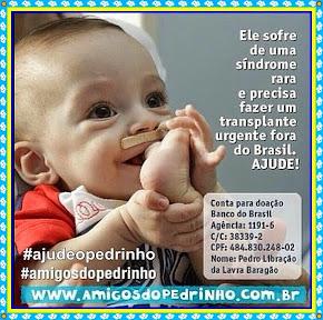 Faça sua doação você também, junte-se a nós, ajude-nos a Salvar o Pedrinho