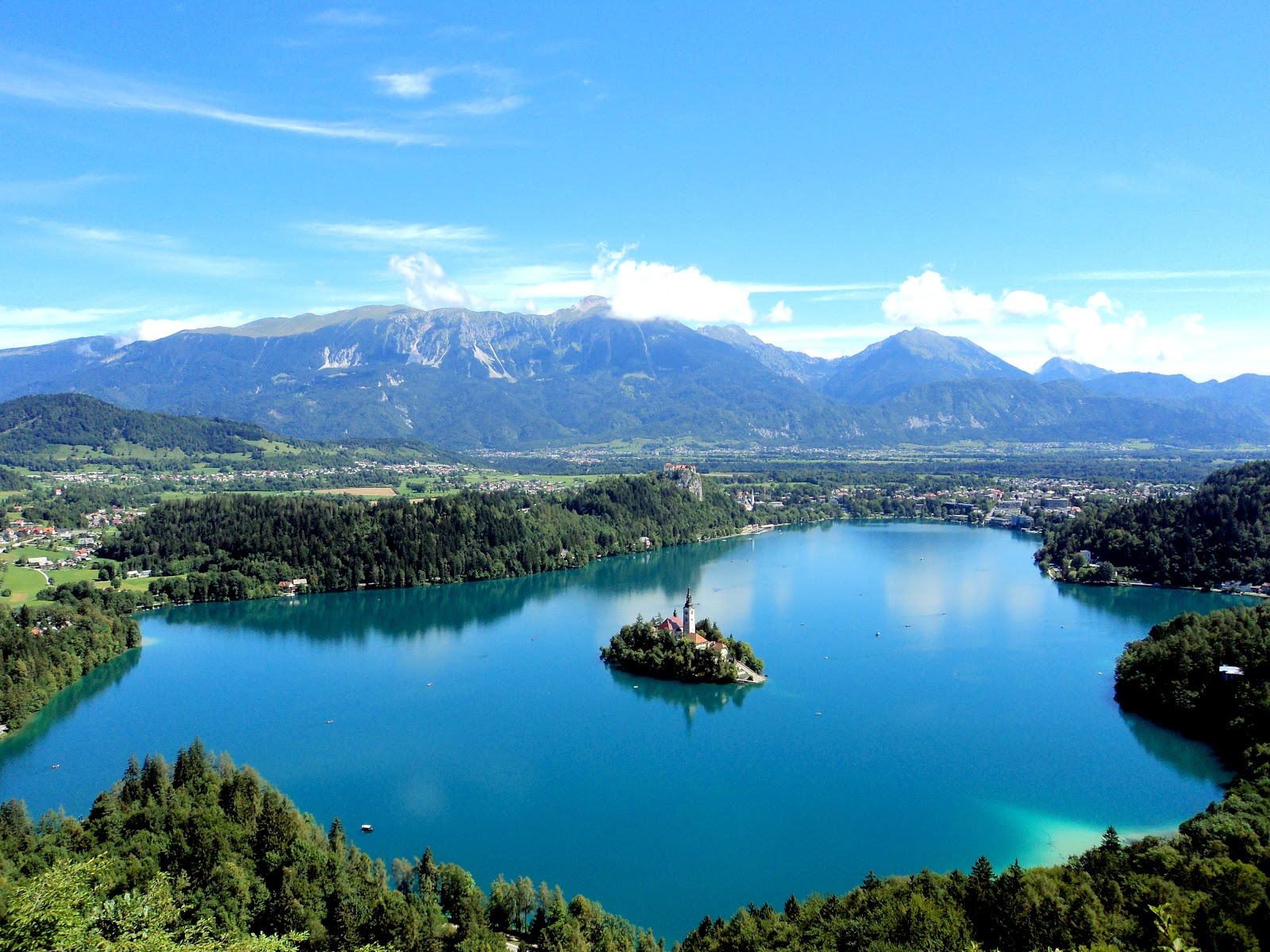 The natural wonders of Lake Bled in Slovenia.