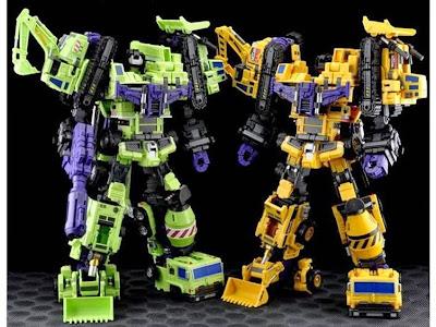 Custom de Devastator Constructicons de Transformers G1 y G2 de Maketoys