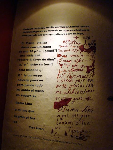 Carta com sangue
