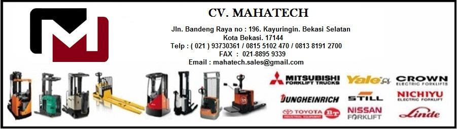 CV. MAHATECH, Service Forklift Dan Distributor Sparepart Forklift Electrik bekasi