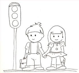 Dibujo Views: Semáforo para colorear