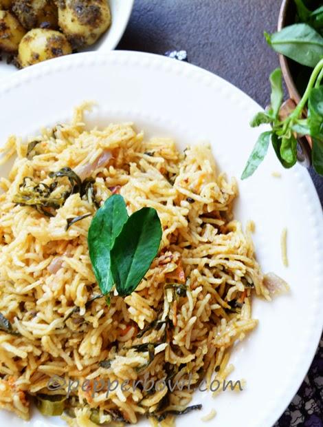 Methi Biryani / Fenugreek Leaves Rice Recipe