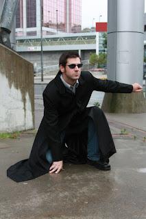 The AbbyShot Lobby Trench, inspired by 1999 cyberpunk classic The Matrix