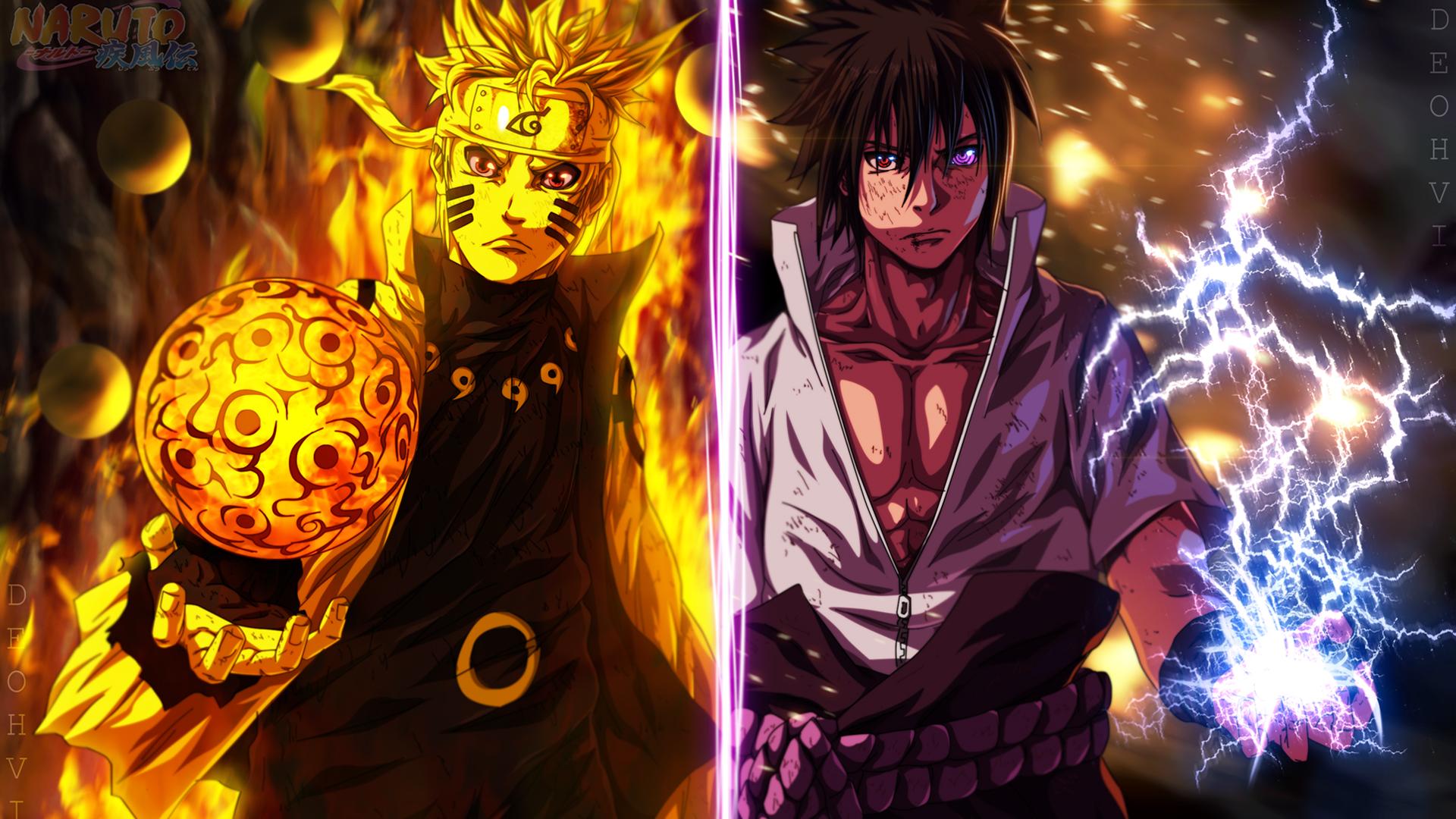Naruto Vs Sasuke Wallpaper