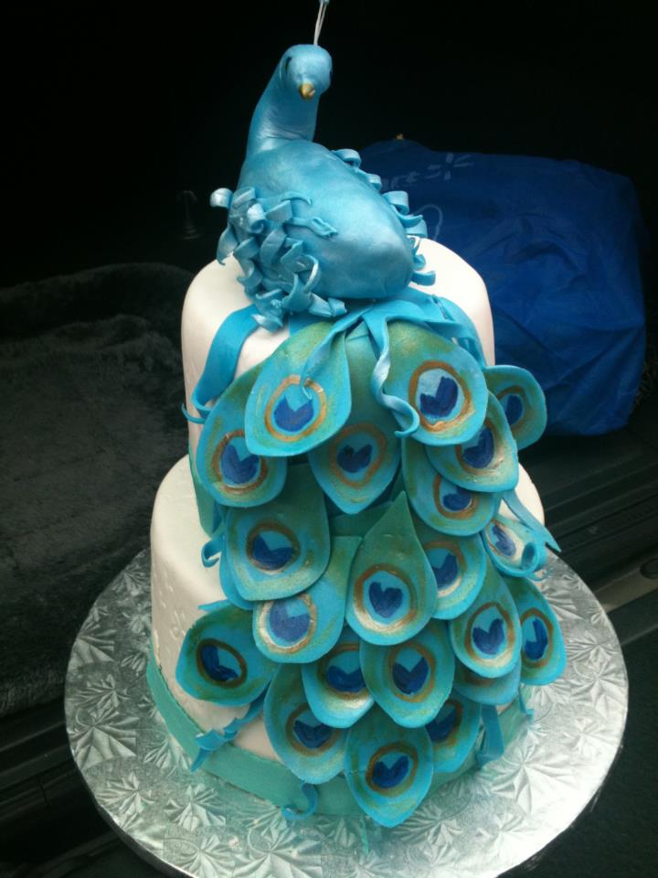 My Life In A Cupcake Peacock Cake For Moms 60th Birthday