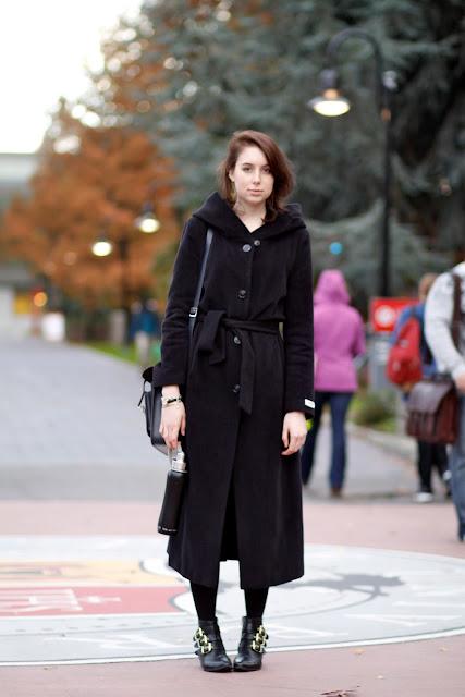 laura stowell hooded wrap coat seattle university street style fashion it's my darlin'