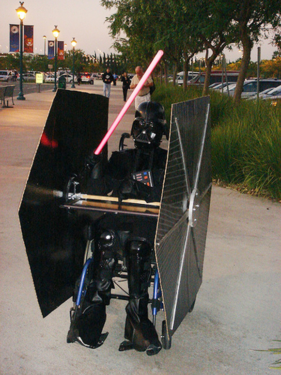 &gt;Darth Vader Wheelchair Art Car