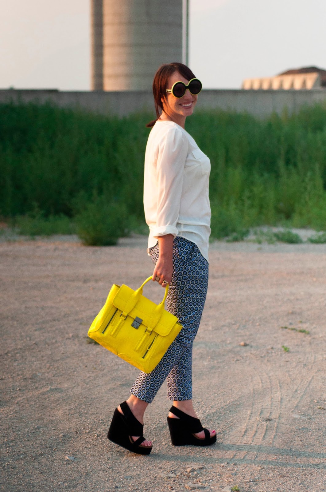 fashion blog, style blog, ootd, what I wore, phillip lim, 3.1 phillip lim pashli satchel, yellow handbag, target style