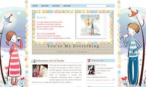 Free Cute Blog Templates from Rinda\'s Template ~ Hias Hias Blog