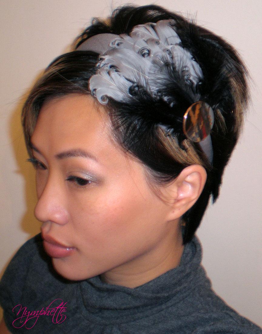 Hairstyles For Short Hair Using Headband : Short Hair Styles: Cool Feathered Headband Hairstyle For Girls