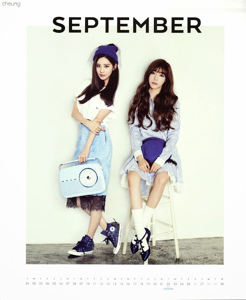 snsd seohyun tiffany calendar 2015